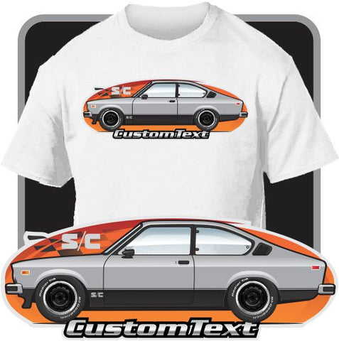 Custom Car Art T-shirt 1976 1977 1978 79 Buick Isuzu Opel Sport Coupe S/C DeLuxe