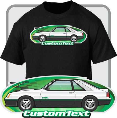 Custom Art T-Shirt 80 81 1980 1981 mustang cobra not affiliated with Ford