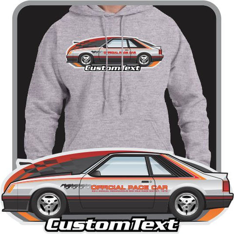 Custom Art Hoodie 1979 79 Mustang gt Pace Car Indy 500 not affiliated ford