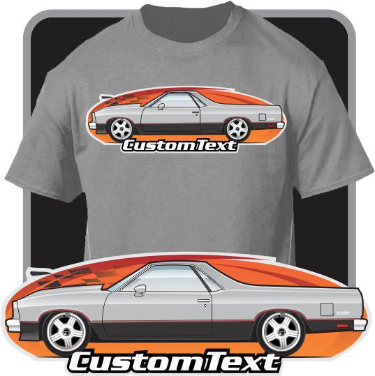 350 Chevy Engine In Jaguar: Custom Art T-Shirt 1982-87 Chevrolet Chevy El Camino SS