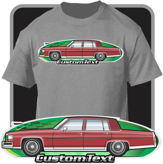 Custom Art T-Shirt 1987 88 89 90 91 1992 Cadillac Brougham D'Elegance Sedan