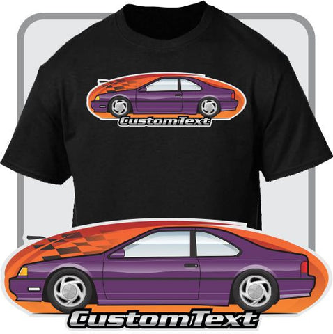 Custom Art T-Shirt for 1989 90 91 92 93 94 95 96 97 Ford ThunderBird SC 5.0 V8 Turbo supercharged