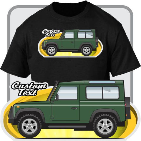 Custom Art T-Shirt Land Rover 90 1993 94 95 96 1997 Defender Tomb Raider 50th V8