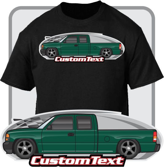 Custom Art T-Shirt for 1999-2006 GMC Sierra 1500 2500 Denali C3 Z71 Crew Ext Cab Pickup Truck chevrolet