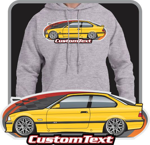 Custom Art Hoodie E36 1992 92 1993 93 1994 94 1995 95 1996 96 97 1997 98 1998 1999 99 BMW 318i 320i 323i 328i 325i M3 Coupe Sedan Convertible