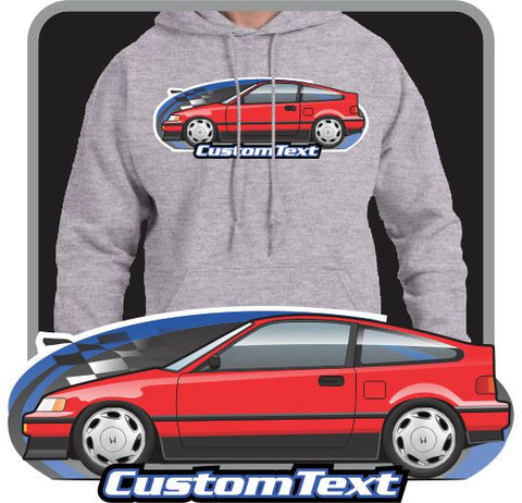 Custom Art Hoodie inspired on 1987-1991 CR-X CRX SiR not affiliated with HONDA