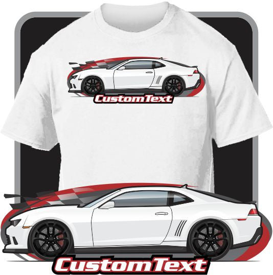 Custom Art T-Shirt for 2014 14 2015 15 Chevrolet Camaro SS Z/28 Z28 7.0 LS7 V8