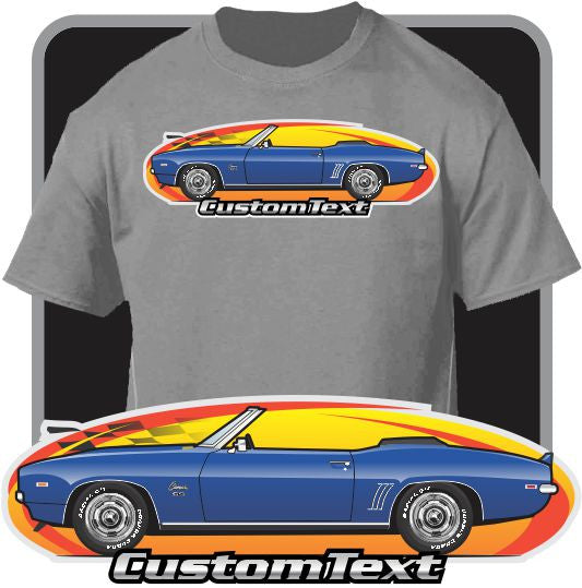 Custom Art T-Shirt 69 1969 Chevrolet Chevy Camaro RS SS 396 Convertible COPO Z28