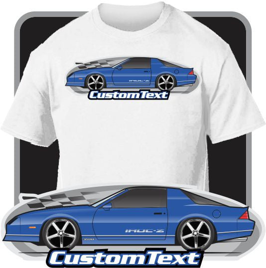 Custom Art T-Shirt 85 86 87 88 89 90 Chevrolet Chevy Camaro Z/28 Z28 Iroc-Z RS