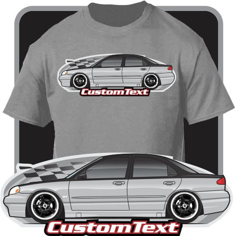 Custom Car Art T-Shirt 1994 94 1995 95 1996 96 1997 97 1998 98 99 2000 00 Ford Contour SVT Turbo Mercury Mystique LX not affiliated w ford
