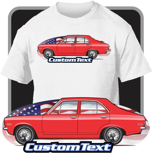 Custom Art T-shirt 1971 71 1972 72 1973 73 Plymouth Cricket 1500 compact car