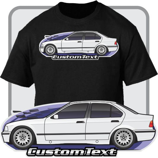 Custom Art T-Shirt for E36 91-92-93-94-99 BMW 318i 320i 323i 328i 325i M3 Sedan