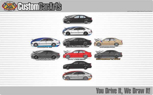 Custom Art T-Shirt for E39 95 1995 96 1996 97 1998 98 99 1999 2000 2001 01 2002 02 BMW 525i 528i 530i 540i V8 Sedan M5 M Sport