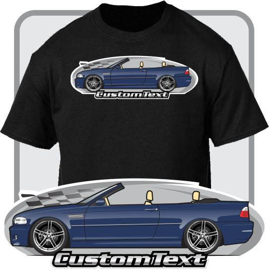 Custom Art T-Shirt for E46 2000 00 2001 01 2002 02 2003 03 2004 04 2005 05 06 2006 BMW 323Ci 325Ci M3 Sport 330Ci Convertible