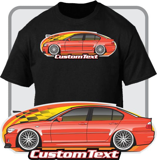 Custom Art T-Shirt for E46 01-02-03-05-06 BMW M3 320i 328i 325i 330i ZHP Sedan