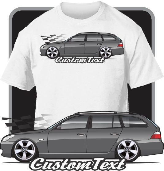 Custom Art T-Shirt for E61 2004-10 BMW 5 Touring Wagon 525i 435i 540i 545i 550i
