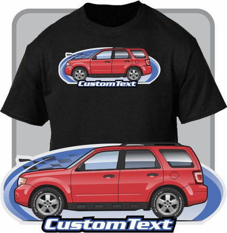 Custom Art T-Shirt 08 09 10 1 12 2008 2009 2010 2011 2012 Ford Escape XLS XLT Limited Hybrid Mercury Mariner Mazda Tribute V6 2.0 2.3L 3.0