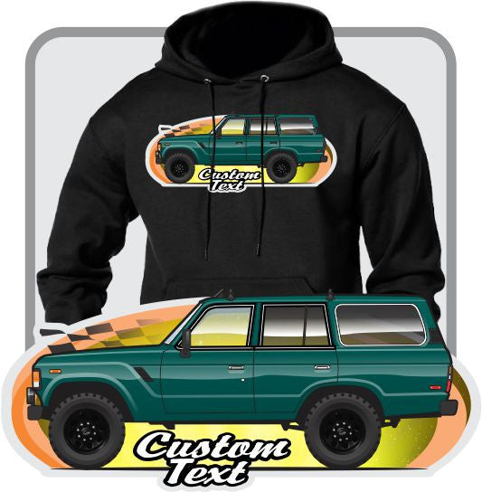 Custom Art Hoodie 1980 81 82 83 84 85 86 87 88 1989 Toyota Land Cruiser FJ60 60 series FJ Truck