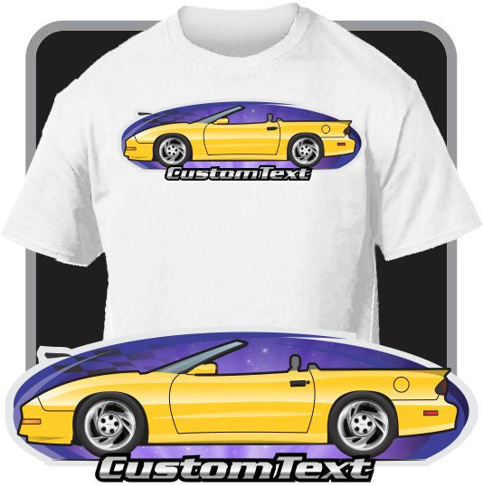 Custom Art T-Shirt 93 94 95 96 97 Pontiac Firebird Convertible Formula Firehawk Ws6 Trans Am