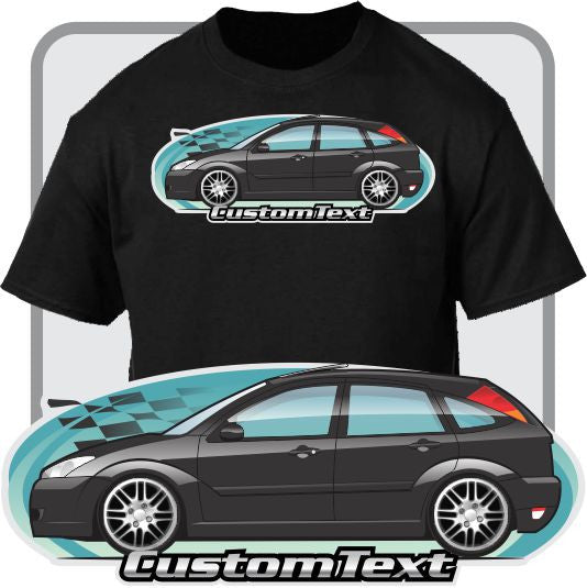 Custom Art T-Shirt inspired on 2002-2007 Ford Focus 5 door Hatchback ZX5 SVT Premium SE SES Cars