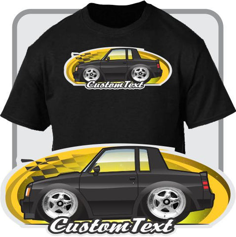 Custom Car Art T-shirt Cartoon Toy 78 1978 79 1979 80 1980 81 1981 82 1982 83 1983 84 1984 85 86 1987 Buick Regal t-type GNX Grand National