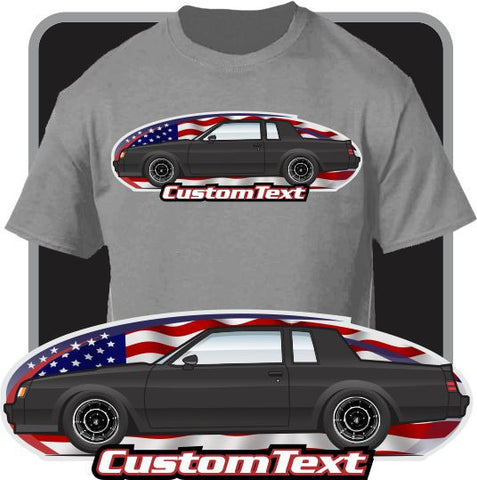 Custom Art T-Shirt 1981 82 83 2984 85 86 87 Buick Regal t-type GNX Grand National WE4 Turbo