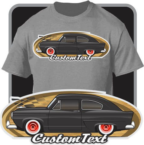 Custom Art T-Shirt for 1951 51 1952 1953 53 1954 Kaiser Frazer Henry Jr. Car Fans Ford