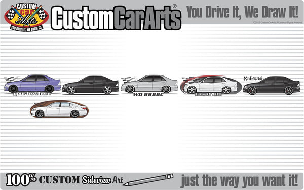 Custom Car Art T-Shirt 2001 01 2002 02 2003 03 2004 04 05 2005 Lexus IS 200 IS 300 IS200 IS300 Turbo tunned