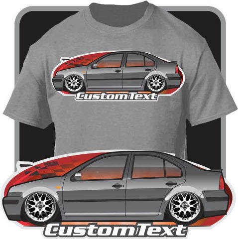 Custom Art T-Shirt for 2000 01 02 2002 03 04 2004 2005 05 VW Jetta MKIV MK4 VR6 Volkswagen Fans