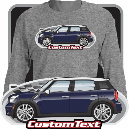 Custom Art Long Sleeve 2010 10 2011 11 12 2012 13 2013 2014 14 15 2015 16 2016 Mini Cooper S D SD LCI Countryman R60 BMW John Cooper Works Kiss Edition