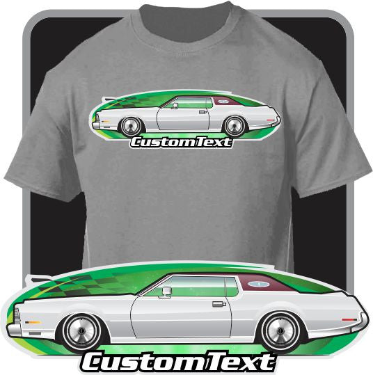 Custom Art T-Shirt inspired on 1972 73 74 75 76 Lincoln Continental Mark IV Mk-4 Car