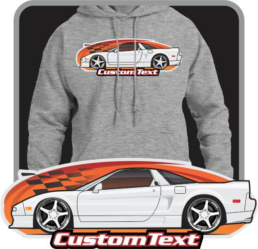 Custom Art Hoodie inspired on 1990 91 92 93 94 95 96 97 98 99 2000 01 02 03 Acura NSX NSX-R not affiliated with HONDA Acura