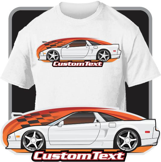 Custom Art T-Shirt inspired on 1990 91 92 93 94 95 96 97 98 99 2000 01 02 03 Acura NSX NSX-R not affiliated with HONDA Acura