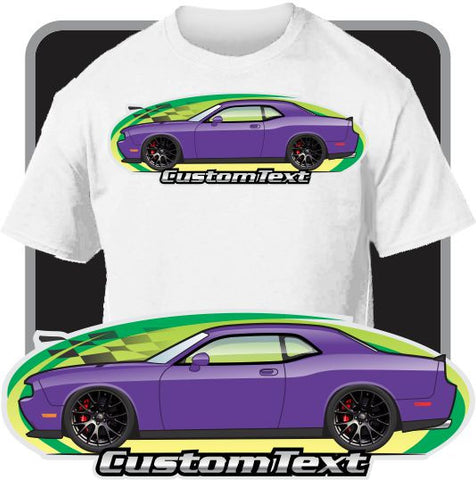 Custom Art T-Shirt 08 2008 09 2009 10 2010 11 2011 12 2012 13 2013 2014 14 2015 15 16 2016 Dodge SRT-8 R/T SE Challenger Hellcat Detonator Demon