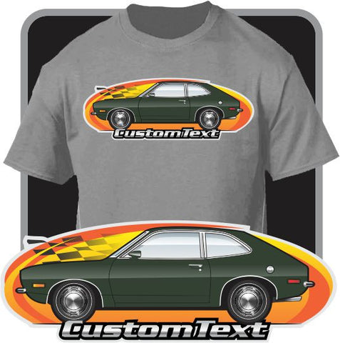 Custom Art T-Shirt 1971 1972 72 73 Pinto Runabout hatch not affiliated with Ford