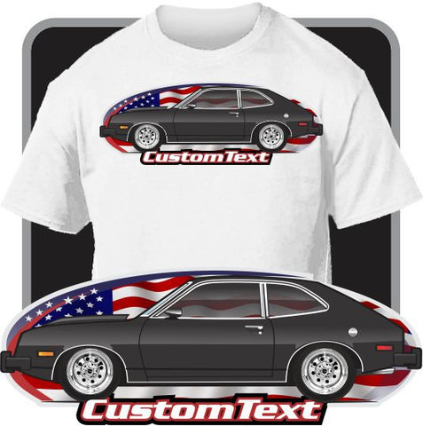 Custom Art T-Shirt 79 1979 1980 Pinto Mercury Bobcat V6 not affiliated with Ford