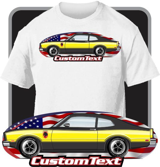 Custom Art T-Shirt inspired on 76 1976 77 1977 Ford Maverick Stallion car