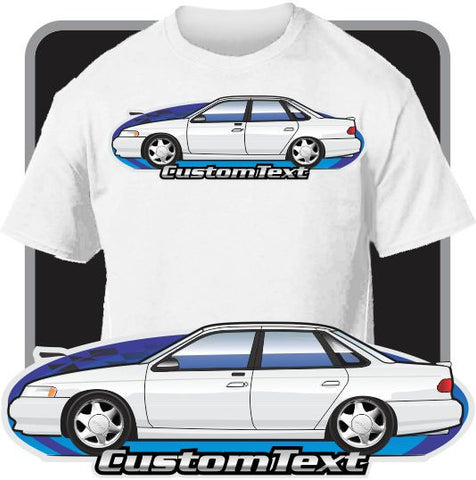 Custom Art T-Shirt inspired on Ford 1992-1995 Taurus GL SHO LX Mercury Sable Cars