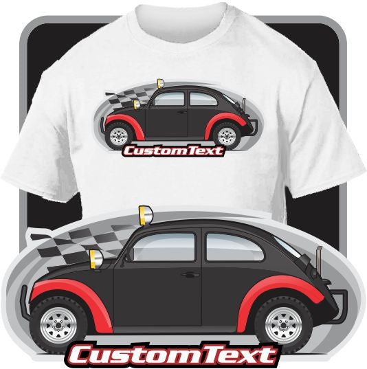 Custom Art T-Shirt for VW Volkswagen Beetle Bug Baja Pre Runner sand racer desert