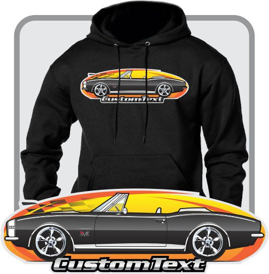Custom Art Hoodie 1967 67 Chevy Chevrolet Camaro Convertible RS SS 350 427 Z28 Z/28