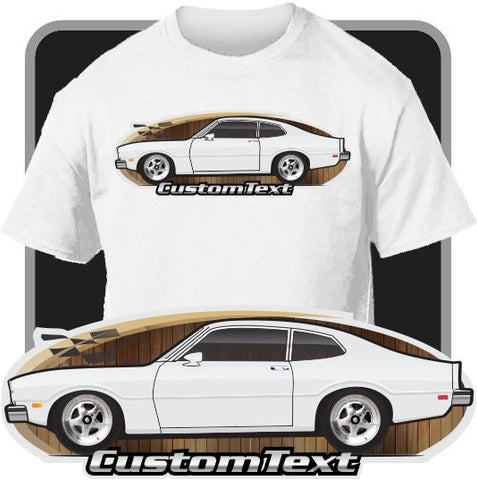 Custom Art T-Shirt inspired on 74 1974 75 1975 76 1976 77 1977 Mercury Comet GT 250 302 V8