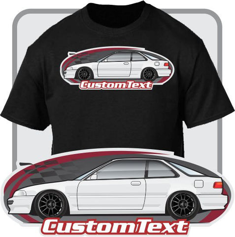 Custom Art T-Shirt 1990 1991 1992 1993 Acura integra RSi RX