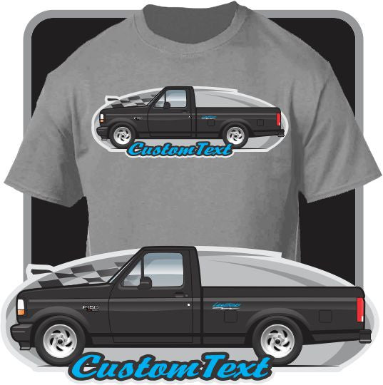 Custom Art T-Shirt 1992 1993 1994 1995 92 93 94 95 Ford F-150 SVT Lightning F-Series Pickup Truck with 17""