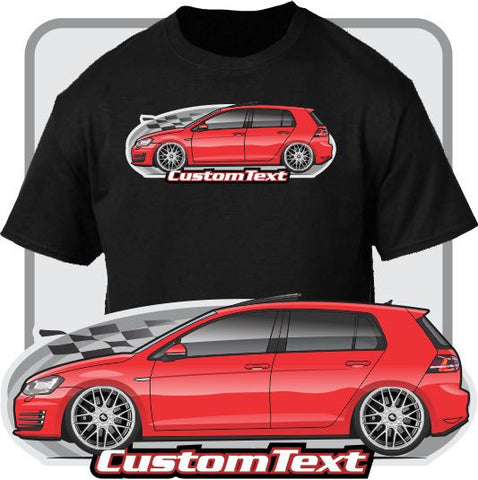 Custom Art T-Shirt VW Volkswagen Golf MK7 MK 7 GTi