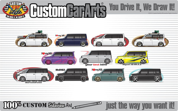Custom Art T-Shirt for for 2004 2005 2006 Toyota scion bB Xb RS fans