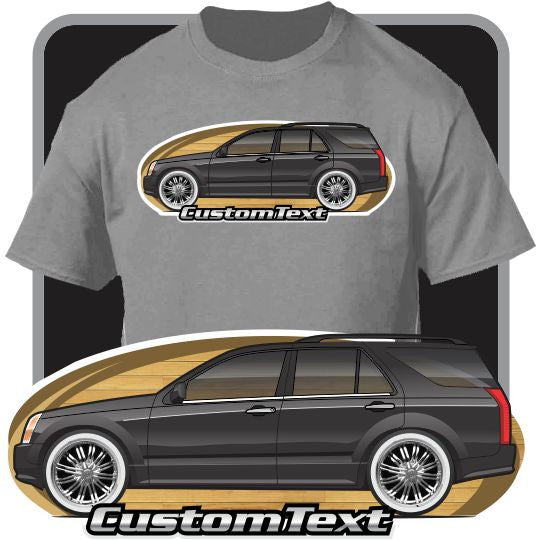 Custom Art T-Shirt for 2004 2005 06 07 2008 2009 Cadillac SRX SUV Truck V8 Fans