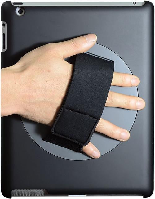 LAPWORKS Soft Grip iPad Handle for iPad 2, 3, 4 with 360 Degree Swiveling and Smart Cover Channel