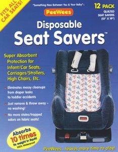PEEWEES Disposable Car Seat Savers