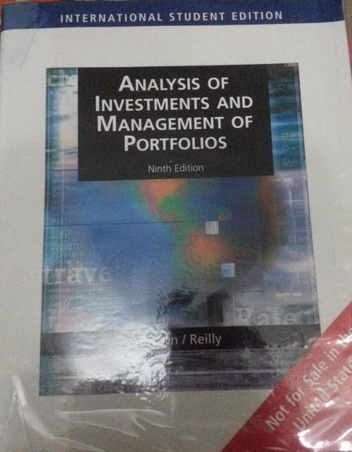 Analysis Of Investments & Management Of Portfolios - International Student Edition