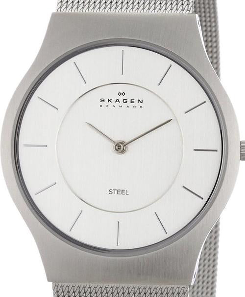 Authentic SKAGEN Denmark Ultra Slim Mesh Band Mens Watch